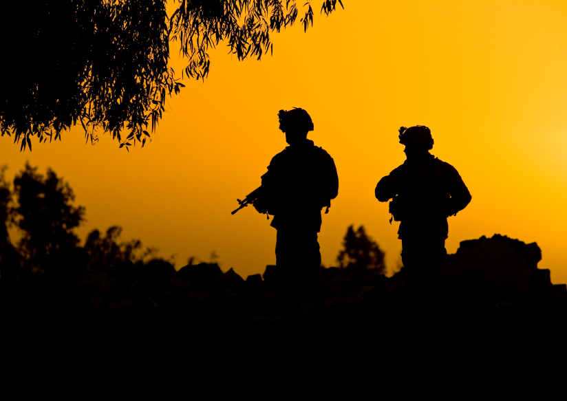 Gallery Soldier Silhouette Sunset
