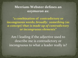 The Self-Centered Leader is an OxyMORON